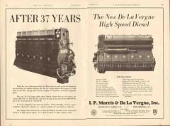 I P Morris De La Vergne Inc 1931 Vintage Ad Oilfield Diesel 37 Years