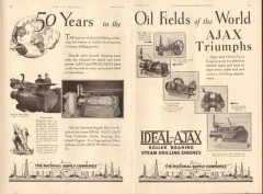 Ajax Iron Works 1931 Vintage Ad Oil Field World Triumphs Fifty Years