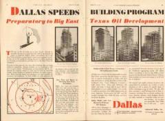 Industrial Dallas Inc 1931 Vintage Ad Oil Speeds Building Program TX