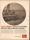 Allied Chemical 1962 Vintage Ad Protective Coatings Corrosion Control