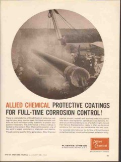 Allied Chemical 1962 Vintage Ad Corrosion Control Protective Coating 2