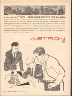 Aetron 1962 Vintage Ad Engineering Oil Aerojet-General Build Tomorrow