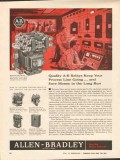 Allen-Bradley Company 1962 Vintage Ad Quality A-B Relays Process Line