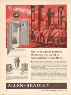 Allen-Bradley Company 1962 Vintage Ad Motor Starters Worst Atmospheric