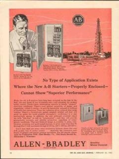 Allen-Bradley Company 1962 Vintage Ad A-B Starter Superior Performance