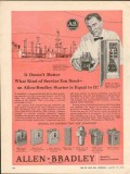 Allen-Bradley Company 1962 Vintage Ad Service Need A-B Starter Equal