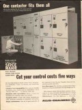 allis-chalmers 1962 contactor fits all high voltage control vintage ad