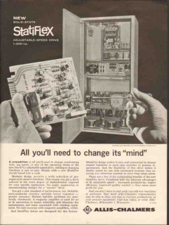 Allis-Chalmers 1962 Vintage Ad Statiflex Solid State Speed Change Mind