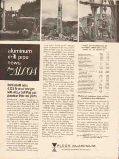 Aluminum Company Of America 1962 Vintage Ad Drilling Oil Brinkerhoff