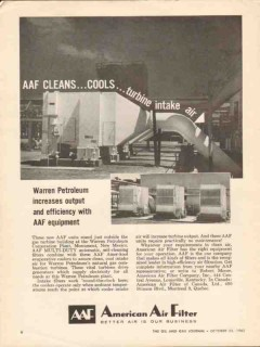 American Air Filter Company 1962 Vintage Ad Clean Cool Turbine Intake
