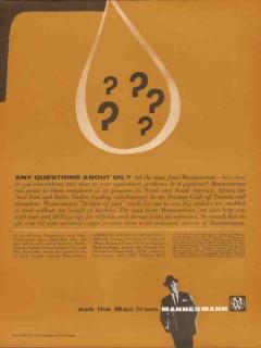 American Mannex Corp 1962 Vintage Ad Oil Mannesmann Questions About