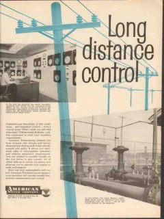 American Meter Company 1962 Vintage Ad Telemeter Long Distance Control
