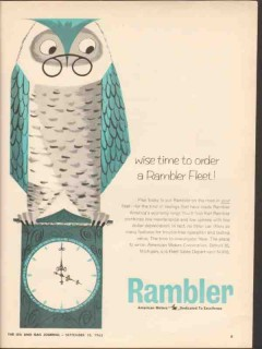 american motors corp 1962 wise time order rambler fleet car vintage ad