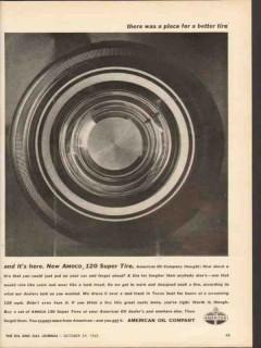 american oil company 1962 amoco 120 super tire dealer vintage ad