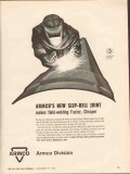 Armco Steel Corp 1962 Vintage Ad Slip-Bell Joint Field Welding Pipe