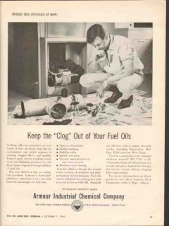 Armour Industrial Chemical Company 1962 Vintage Ad Oils Clog Out Fuel