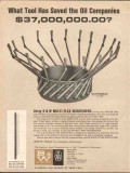 B and W Inc 1962 Vintage Ad Oil Cement Scratcher Tool Saved Companies