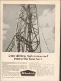B F Goodrich 1962 Vintage Ad Highflex Deep Drilling High Pressure Hose
