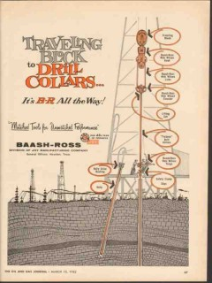 Baash-Ross Tool Company 1962 Vintage Ad Traveling Block Drill Collars