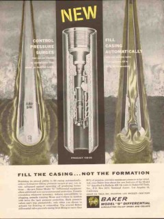 Baker Oil Tools Inc 1962 Vintage Ad Fill Casing Control Pressure Surge