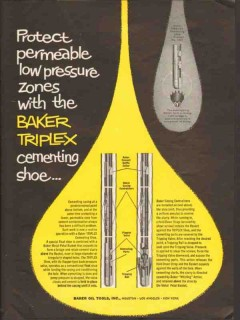 Baker Oil Tools Inc 1962 Vintage Ad Permeable Low Pressure Zones Shoe