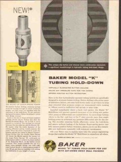 Baker Oil Tools Inc 1962 Vintage Ad Tubing Hold-Down Button Dulling
