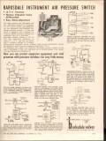 Barksdale Valves 1962 Vintage Ad Oil Instrument Air Pressure Switch