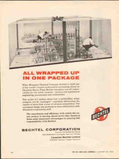 Bechtel Corp 1962 Vintage Ad One Package Monsanto Chemical Chocolate