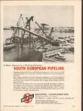 Bechtel Corp 1962 Vintage Ad Oil Construction South European Pipeline