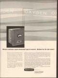 Beckman Instruments Inc 1962 Vintage Ad Continuous Oxygen Measurement