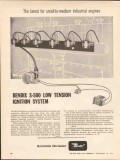 Bendix Corp 1962 Vintage Ad Industrial Engines Ignition System