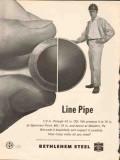 Bethlehem Steel Company 1962 Vintage Ad Oil Line Pipe Produce Weld