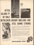 Bethlehem Steel Company 1962 Vintage Ad Oil Rotary Drilling Line