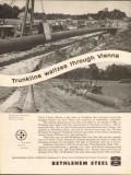 Bethlehem Steel Company 1962 Vintage Ad Pipe Trunkline Gas Vienna IL