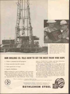 Bethlehem Steel Company 1962 Vintage Ad Oil BBM Drilling Louis Dreyer