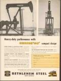 Bethlehem Steel Company 1962 Vintage Ad Oil Heavy-Duty Performance
