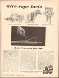 Bethlehem Steel Company 1962 Vintage Ad Oil Field Wire Rope Facts