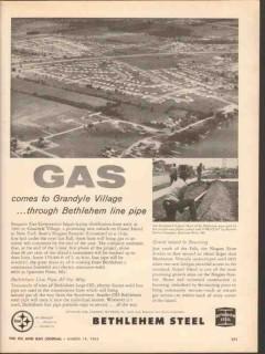 Bethlehem Steel Company 1962 Vintage Ad Iroquois Gas Co Grand Island
