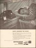 Bethlehem Steel Company 1962 Vintage Ad Oil Pipe Whos Minding Store