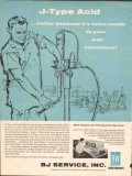 BJ Service Inc 1962 Vintage Ad J-Type Acid Taylor-Made Well Conditions