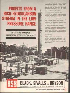 Black Sivalls Bryson Inc 1962 Vintage Ad Oil Profits Rich Hydrocarbon