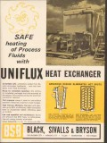 Black Sivalls Bryson Inc 1962 Vintage Ad Oil Uniflux Heat Exchanger