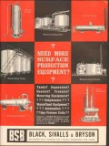 Black Sivalls Bryson Inc 1962 Vintage Ad Surface Production Equipment