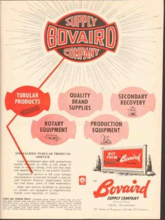Bovaird Supply Company 1962 Vintage Ad Oil Tubular Products Supplies