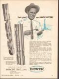 Bowen ITCO Inc 1962 Vintage Ad Oil Stuck Pipe Internal External Cutter