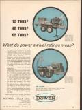 Bowen ITCO Inc 1962 Vintage Ad Oil Field Power Swivel Ratings Mean