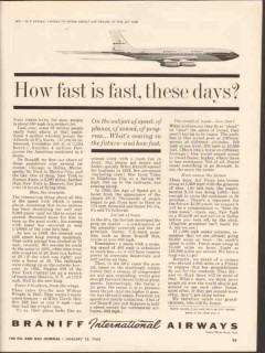 braniff international airways 1962 how fast these days jet vintage ad