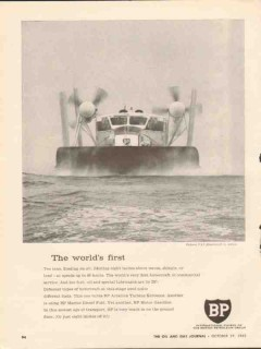 British Petroleum Company 1962 Vintage Ad First Vickers VA3 Hovercraft