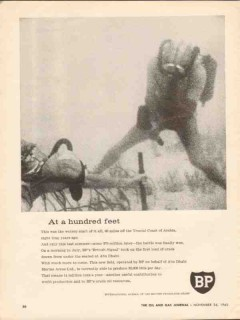 British Petroleum Company 1962 Vintage Ad Trucial Coast Abu Dhabi Feet