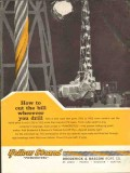 Broderick Bascom Rope Company 1962 Vintage Ad Oil Drilling Cut Bill